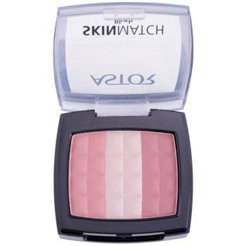 Astor SkinMatch blush trio colore 001 Rosy Pink (Trio Blush) 8,25 g