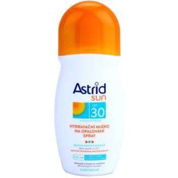 Astrid Sun latte abbronzante idratante spray SPF 30 (Waterproof, Beta-carotene, UVA+UVB) 200 ml