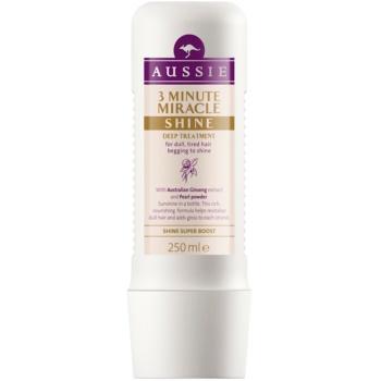 Aussie Miracle Shine maschera da tre minuti per capelli opachi e stanchi (with Australian Ginseng Extract and Pearl Powder) 250 ml