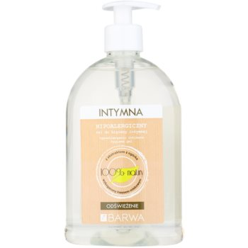 Barwa Natural Hypoallergenic gel rinfrescante per l'igiene intima (Cucumber Extract Enriched with Lactic Acid) 500 ml