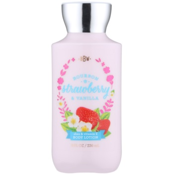 Bath & Body Works Bourbon Strawberry & Vanilla latte corpo per donna 236 ml