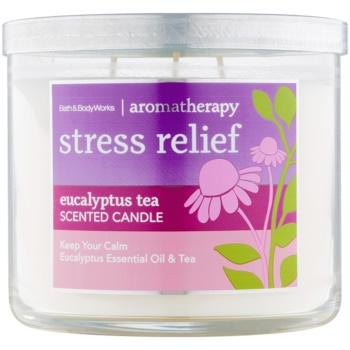 Bath & Body Works Stress Relief Eucalyptus Tea candela profumata 411 g