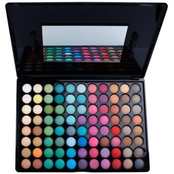 BHcosmetics 88 Color Matte palette di ombretti con specchietto 88 Color (Matte Eyeshadow) 71 g