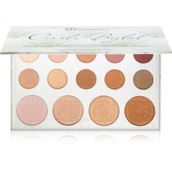 BHcosmetics Carli Bybel palette di ombretti e illuminanti (10 Color Eyeshadow & 4 Color Highlighter Palette) 28 g