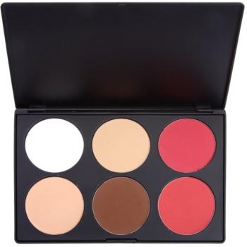 BHcosmetics Contour palette di blush colore 01 (6 Color Palette) 78 g