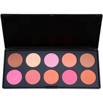 BHcosmetics Professional palette di blush (10 Color) 27 g