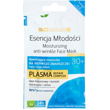 Bielenda BioTech 7D Essence of Youth 30+ maschera idratante per le prime rughe (Plasma Repair Complex) 10 g