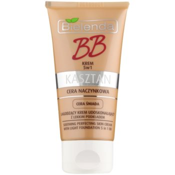 Bielenda Chestnut BB cream lenitiva per pelli con capillari dilatati colore Medium 40 ml