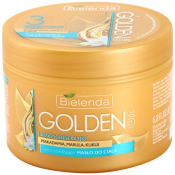 Bielenda Golden Oils Ultra Hydration burro intenso corpo effetto idratante (Makadamia, Marula, Kukui Oils) 200 ml