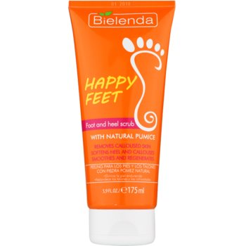 Bielenda Happy Feet scrub per piedi e talloni con pietra pomice (Foot and Heel Scrub) 175 ml