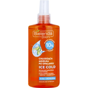 Bielenda Bikini Ice Cold spray doposole lenitivo con effetto rinfrescante (Panthenol, Aloe Barbadensis Leaf Juice Powder, Menthol) 150 ml