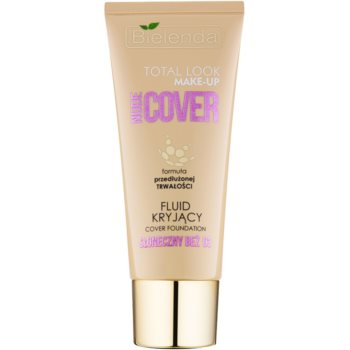 Bielenda Total Look Make-up Nude Cover fondotinta coprente liquido colore Sunny Beige 03 30 g