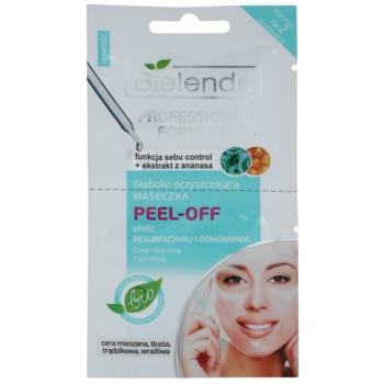 Bielenda Professional Formula maschera in gel peel-off per chiudere i pori e ottenere un look opaco 2 x 5 ml