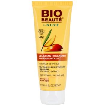 Bio Beauté by Nuxe Sun Care crema-gel idratante autoabbronzante con estratto di mango (Face & Body) 100 ml