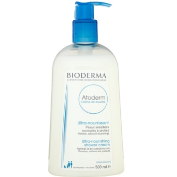 Bioderma Atoderm crema doccia ultra nutriente per pelli sensibili normali e secche (Cleanses, Softens and Protect) 500 ml