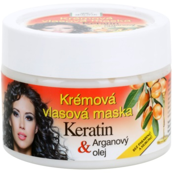 Bione Cosmetics Keratin Argan maschera rigenerante per capelli (Parabens and Silicons Free) 260 ml