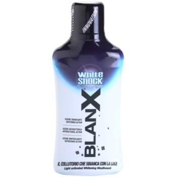 BlanX White Shock collutorio con effetto sbiancante (Light Activated Whitening Mouthwash) 500 ml