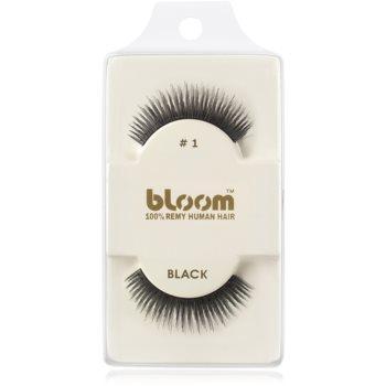Bloom Natural ciglia finte in capelli naturali No. 1 (Black) 1 cm