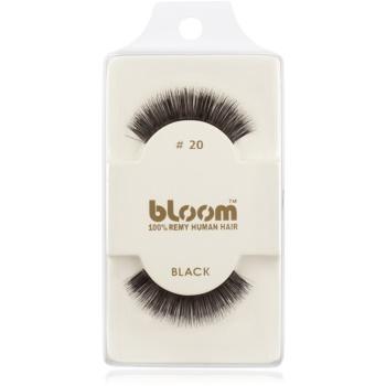 Bloom Natural ciglia finte in capelli naturali No. 20 (Black) 1 cm
