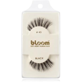 Bloom Natural ciglia finte in capelli naturali No. 43 (Black) 1 cm