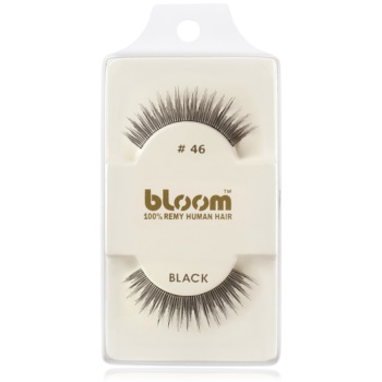 Bloom Natural ciglia finte in capelli naturali No. 46 (Black) 1 cm