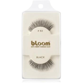 Bloom Natural ciglia finte in capelli naturali No. 82 (Black) 1 cm