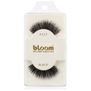 Bloom Natural ciglia finte in capelli naturali No. 117 (Black) 1 cm