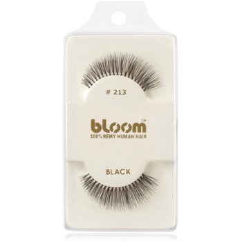 Bloom Natural ciglia finte in capelli naturali No. 213 (Black) 1 cm
