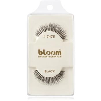 Bloom Natural ciglia finte in capelli naturali No. 747S (Black) 1 cm