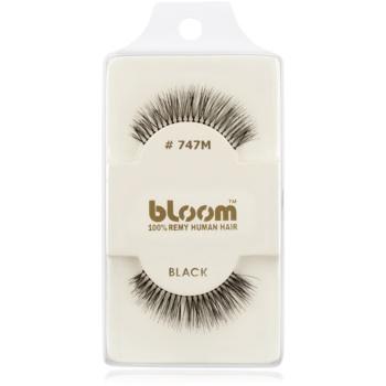 Bloom Natural ciglia finte in capelli naturali No. 747M (Black) 1 cm