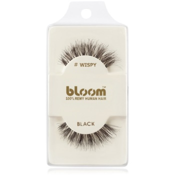 Bloom Natural ciglia finte in capelli naturali (Wispy, Black) 1 cm