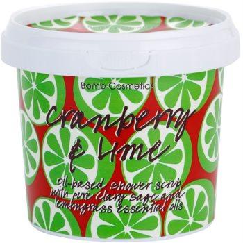 Bomb Cosmetics Cranberry a Lime scrub doccia (Shower Scrub) 400 g