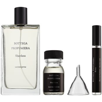 Bottega Profumiera Shardana kit regalo I. eau de parfum 100 ml + eau de parfum ricarica 30 ml + flacone ricaricabile 10 ml + imbuto