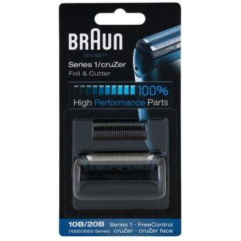 Braun CombiPack Series1/cruZer 10B/20B lama e testina di ricambio (Compatible with cruZer Face, Series 1, FreeControl) 2 pz