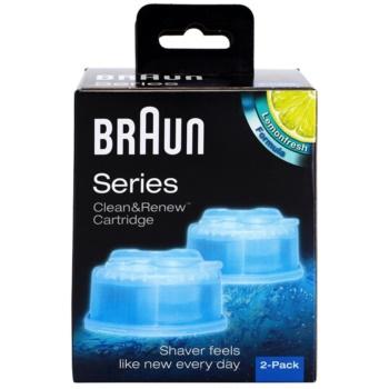 Braun Series Clean&Renew CCR2 cartucce di ricambio per la stazione di pulizia Lemonfresh Formula Cartrige (Compatible with Series 7,5,3) 2 pz