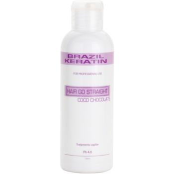 Brazil Keratin Coco trattamento speciale per lisciare e rigenerare i capelli rovinati (Hair Go Straight Coco Chocolate Keratin Treatment ) 150 ml