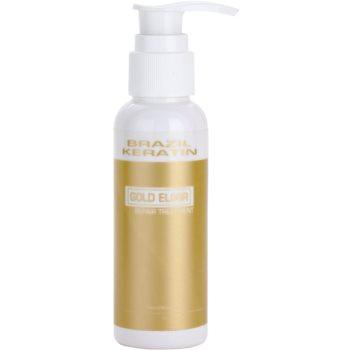 Brazil Keratin Gold trattamento all'olio nutriente e idratante (Elixir Repair Treatment) 100 ml