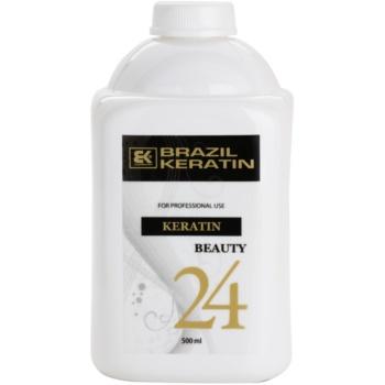 Brazil Keratin Beauty Keratin trattamento speciale per lisciare e rigenerare i capelli rovinati (Keratin Treatment 24 Hours) 500 ml