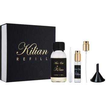 By Kilian Musk Oud kit regalo eau de parfum ricarica 50 ml + flacone ricaricabile 7,5 ml + imbuto + diffusore