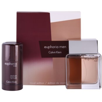 Calvin Klein Euphoria Men kit regalo VII eau de toilette 100 ml + deo-stick 75 ml