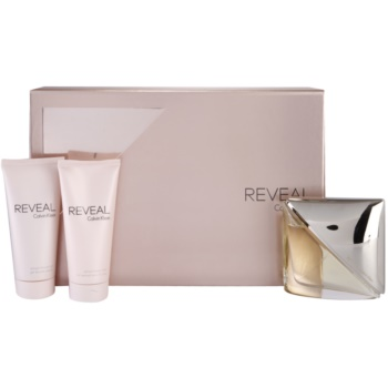 Calvin Klein Reveal kit regalo II eau de parfum 100 ml + latte corpo 100 ml + gel doccia 100 ml