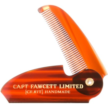 Captain Fawcett Accessories pettine pieghevole per baffi (Folding Pocket Moustache Comb, Length 117 mm)