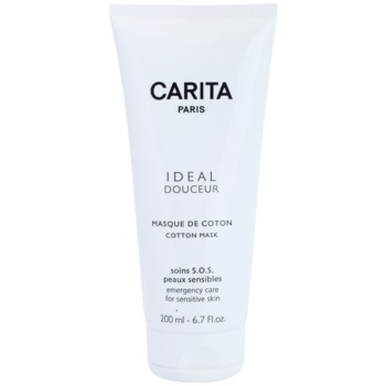 Carita Ideal Douceur maschera lenitiva per pelli sensibili (Cotton Mask) 200 ml