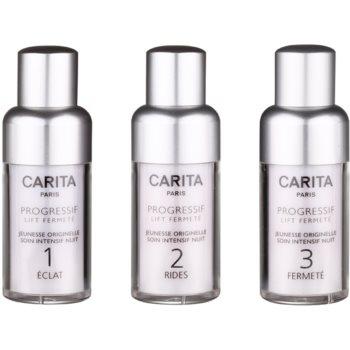 Carita Progressif Lift Fermeté trattamento ringiovanente in tre fasi (Genesis of Youth Intensive Night Care) 3 x 15 ml