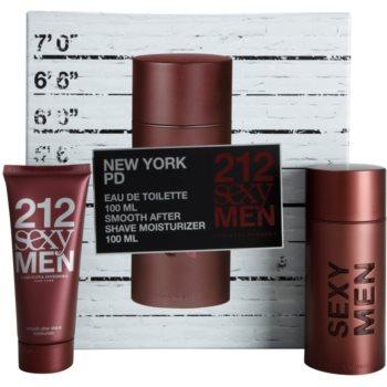 Carolina Herrera 212 Sexy Men kit regalo IV eau de toilette 100 ml + balsamo post-rasatura 100 ml