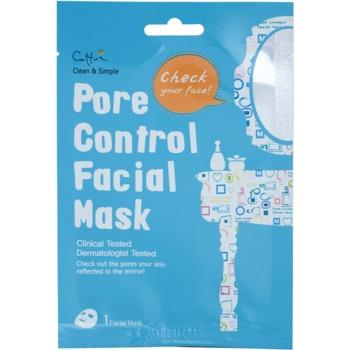 Cettua Clean & Simple maschera in tessuto per chiudere i pori e ottenere un look opaco (Paraben, Fragrance&Pigment Free)