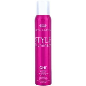 CHI Style Illuminate Miss Universe shampoo secco per assorbire il sebo in eccesso e rinfrescare i capelli (Restage Dry Shampoo) 150 ml