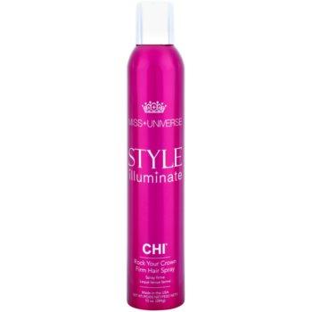 CHI Style Illuminate Miss Universe spray per un finish istantaneo ad asciugatura rapida fissaggio forte (Rock Your Crown – Firm Hair Spray) 284 g