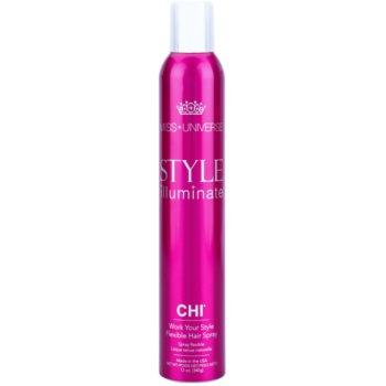 CHI Style Illuminate Miss Universe spray per un finish istantaneo ad asciugatura rapida fissante flessibile (Work Your Style – Flexible Hair Spray) 340 g