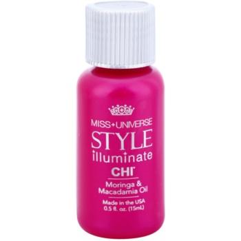 CHI Style Illuminate Miss Universe olio protettivo per capelli sani e belli (Moringa & Macadamia Oil) 15 ml